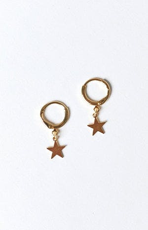 Eclat Maize Star Earrings Gold