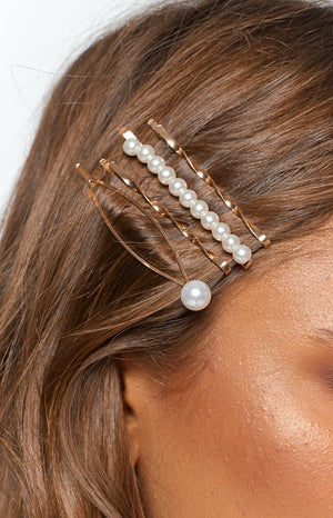 Eclat Gigi Hair Pin Set 4 Pcs Gold