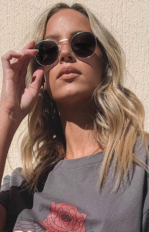 Eclat Hailey Sunglasses Grey Gold