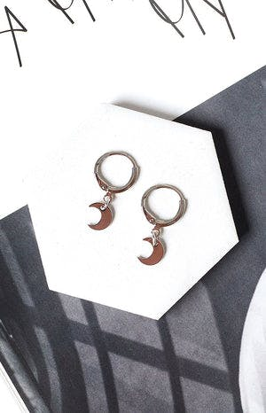 Eclat Moon Glow Earrings Silver
