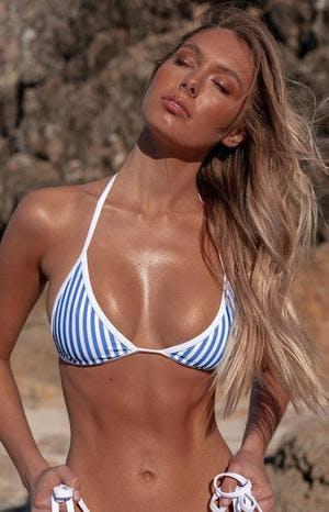 9.0 Swim Fraser Triangle Bikini Top Cobalt Blue