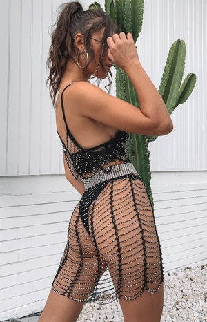Fuego Mesh Dress Black