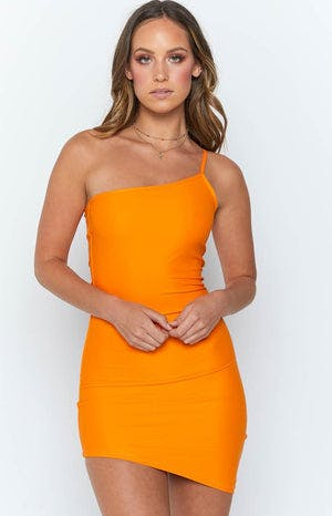 Gomez One Shoulder Dress Orange