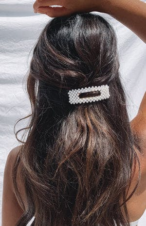 Eclat Stacey Hair Clip Pearl