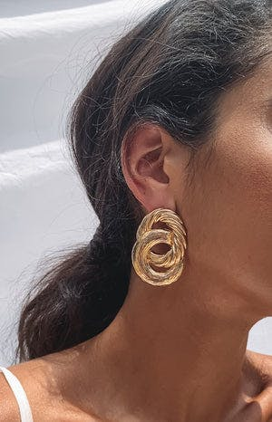 Eclat Handro Earrings Gold