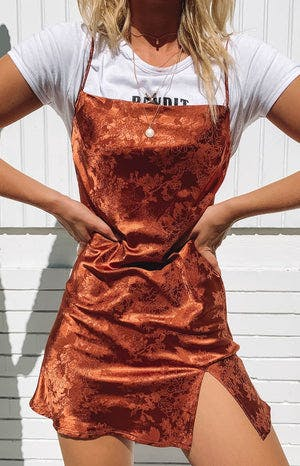 Jordyn Dress Rust Print