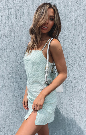 Jordyn Dress Mint Gingham