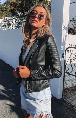Maliha Jacket Black PU