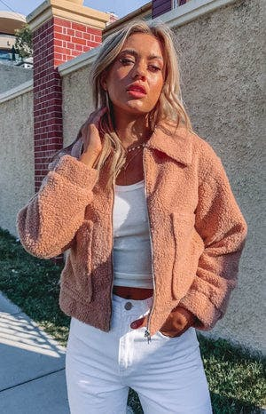 Neve Teddy Jacket Tan