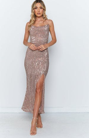 Nicolette Maxi Dress Gold