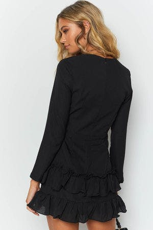 Paree Long Sleeve Dress Black