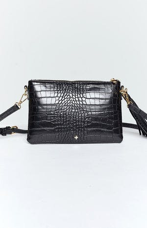 Peta & Jain Kourtney Bag Black Croc