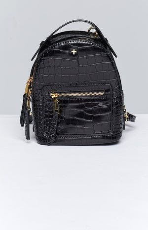 Peta & Jain Zoe Mini Back Pack Black Croc
