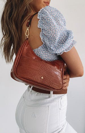 Peta & Jain Tal Bag Tan Croc