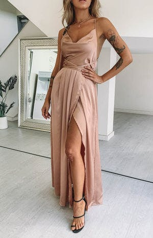 Revive Maxi Dress Champagne