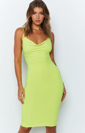 Shinah Dress Neon Yellow