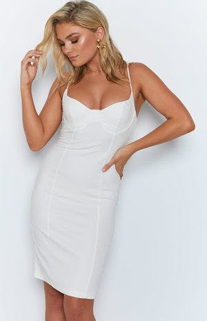 Rumour Dress White