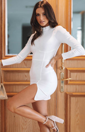 Spring Carnival Bandage Dress White