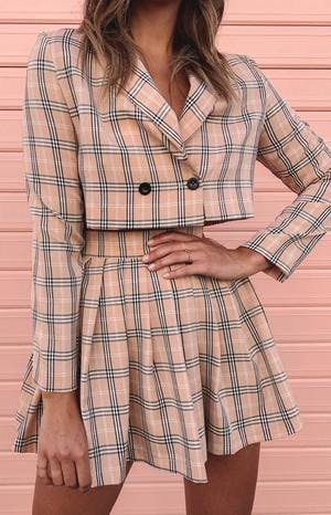 Sweeter Than Honey Jacket Pink Plaid