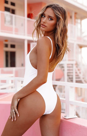 9.0 Swim Day Dream One Piece White Rib
