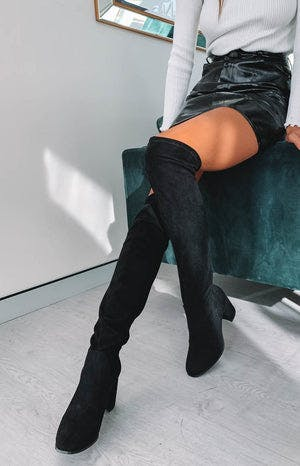 Therapy Hanover Knee High Boots Black