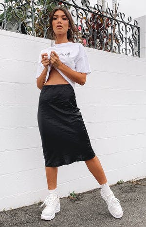 Trisha Midi Skirt Black