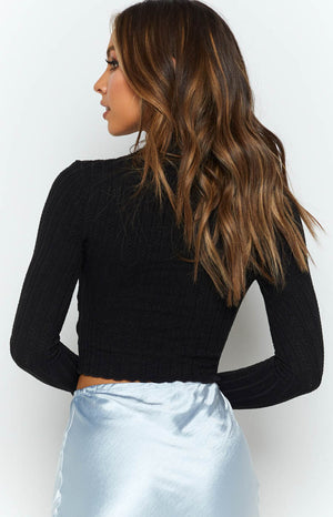 Trudy Long Sleeve Knit Black