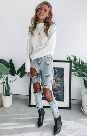Zane Ripped Jeans Blue