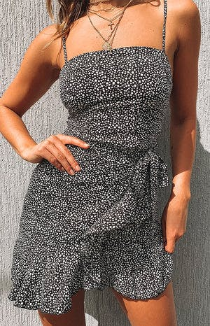Samsara Dress Black Print