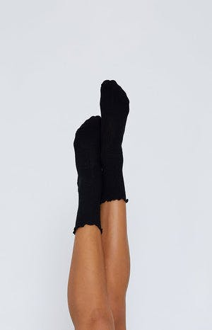On The Run Socks Black