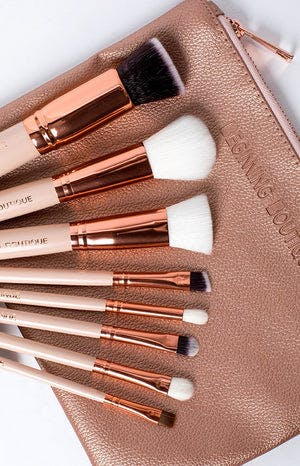 Demure Makeup Brush Set Rose Gold