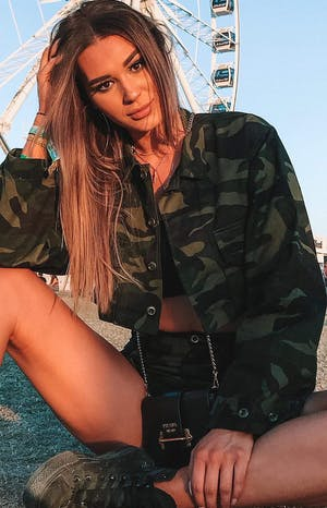 Strike Out Cropped Jacket Camo