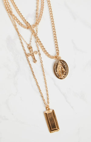 Eclat Hallelujah Layered Necklace Gold