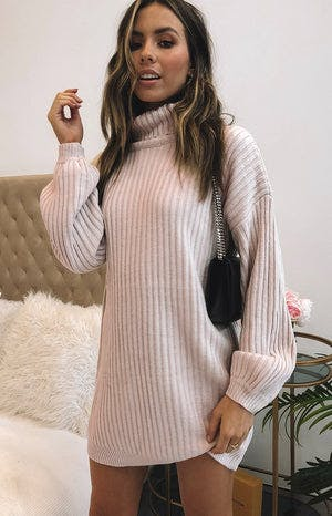 Lucilla Jumper Dress Beige