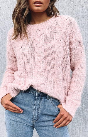 Marsha Cable Knit Pink