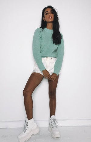 Lazy Day Knit Mint