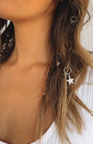 Starlight Hair Ring Silver