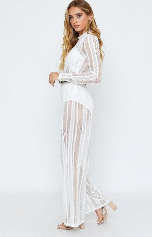 Time For Champagne Jumpsuit White